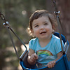 Brooke on a swing