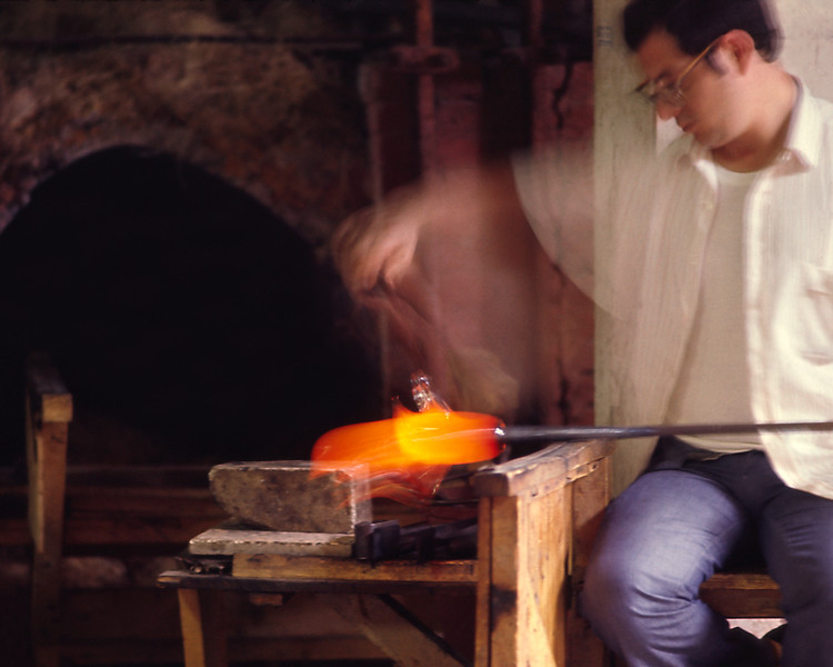 Portrait of a Glassworker in Murano, Italy