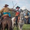 SCHERMUTSELING tussen cavaleristen van beide zijden