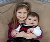 Kate with baby sister, Kara. Awaiting Christmas 2011