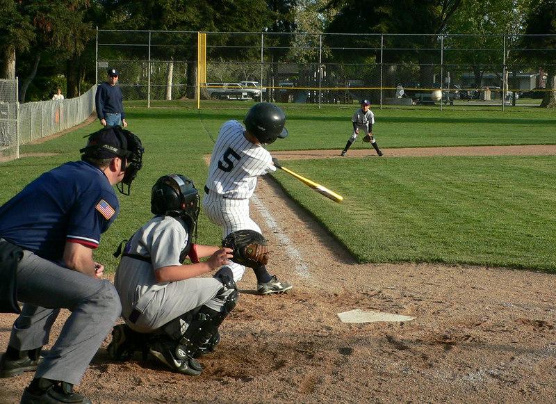 Base Hit, Philip (ball to 3rd baseman's left)