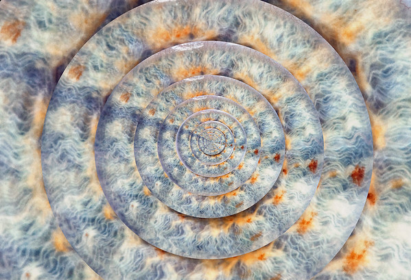 Actual photo of the iris of an eye used for this image