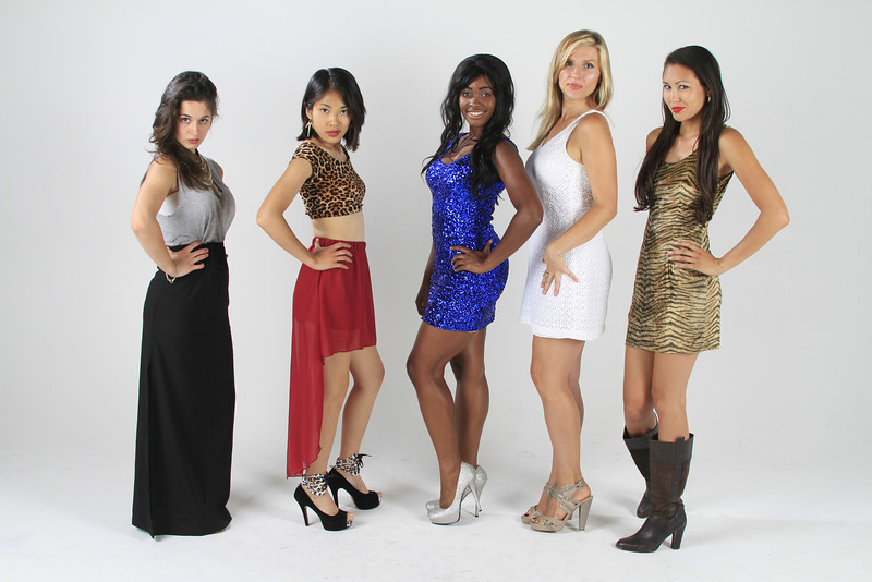 Glamour shoot with five  models