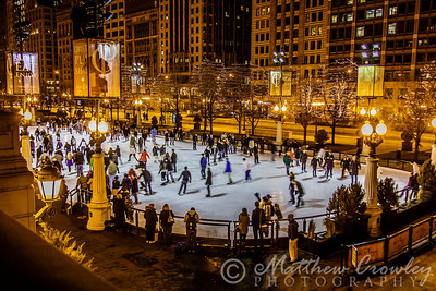 Ice skating rink at Millennium Park, Chicago, Illinois