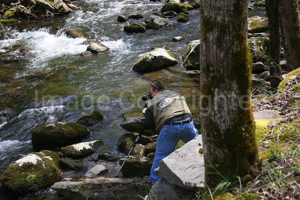 Me photographing Pigeon River - 6/3/07