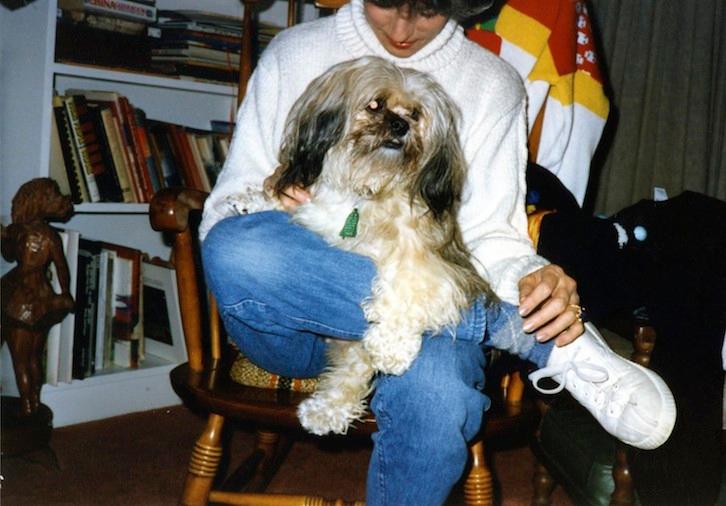Aunt Mercy with her beloved dog Maggie