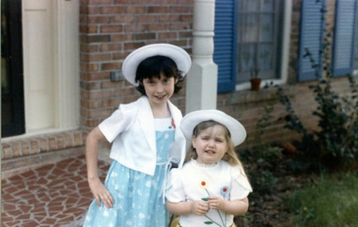 Betsy & Molly in Easter outfits