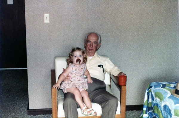 Molly with Pop, October '83