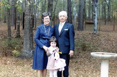 Betsy with Grandmama & Pop in Reform, AL, November 1981