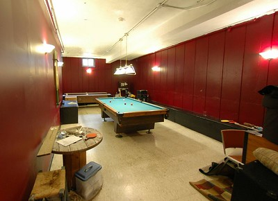 The Pool room in the basement