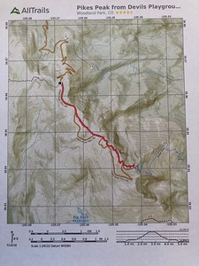 We'll be following the red line to the summit - and back. .. More info in link below:
