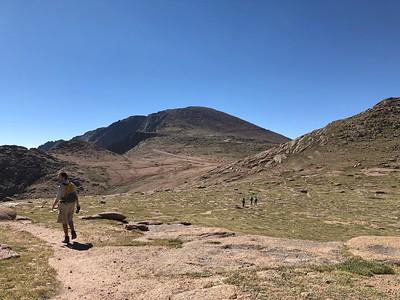 Little Pikes Peak on right; Big PP ahead.