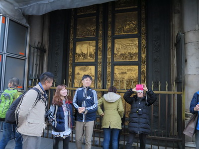 The famous Lorenzo Ghiberti door to the Baptistery - http://en.wikipedia.org/wiki/Florence_Baptistery