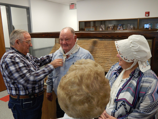 On Monday, Oct. 7, the official installation ceremony for this year's Granny and Pappy, Jack and Patricia Byrd, was held in the lobby of the Lafayette County Courthouse with County Judge Darren Jackson officiating.