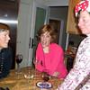 Cokie Lepinski, Lori Johnson, Lynn Forsey. End of year party, December 17, 2010. Photo by Keven Seaver.