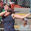 "Jen McLaughlin gets a hit in the first inning.<br /> Isabelle Crouse started a softball tournament 4-years ago to fight breast cancer after her teammate, Heidi Muller, contracted the disease. Proceeds go individuals and the Boulder Community Hospital Cancer Research Foundation.<br /> For more photos and a video of the game, go to  <a href=""http://www.dailycamera.com"">http://www.dailycamera.com</a><br /> Cliff Grassmick / August 21, 2011"