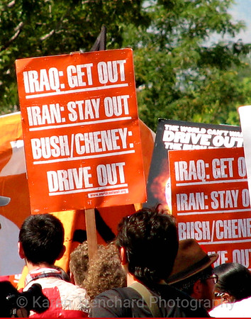 IRAQ-Get Out!, DNC, Denver, '08