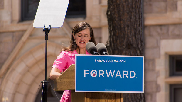 A Colorado Springs elementary teacher introduced President Obama - Christy Howard.