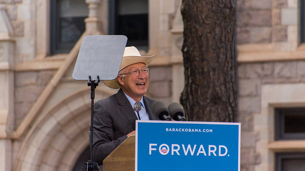 Ken Salazar - Secretary of the Interior - Past Senator and CO State Attorney General.