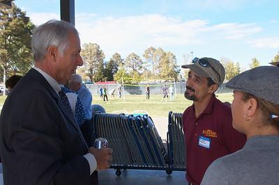 Michael Maresco talking with Steve Komadina
