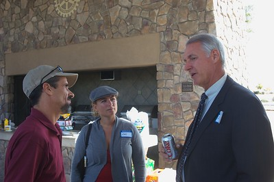 Steve talking with Michael