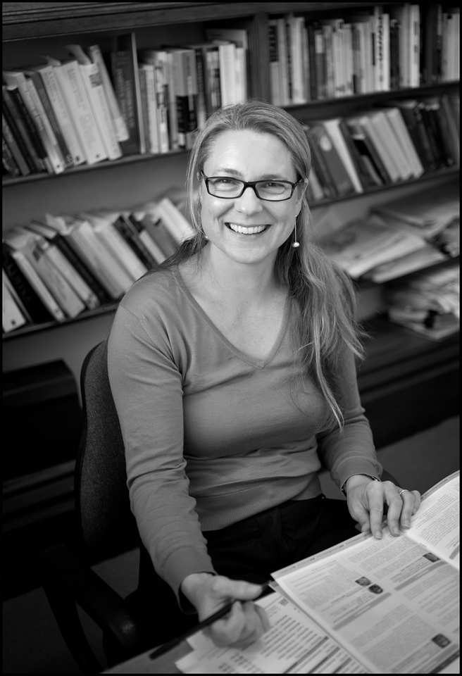 Caroline West in her office at the University of Sydney, 2010