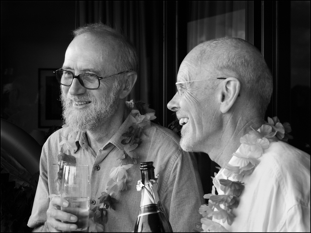 Frank Jackson and Philip Pettit and Philip's wedding, 2009