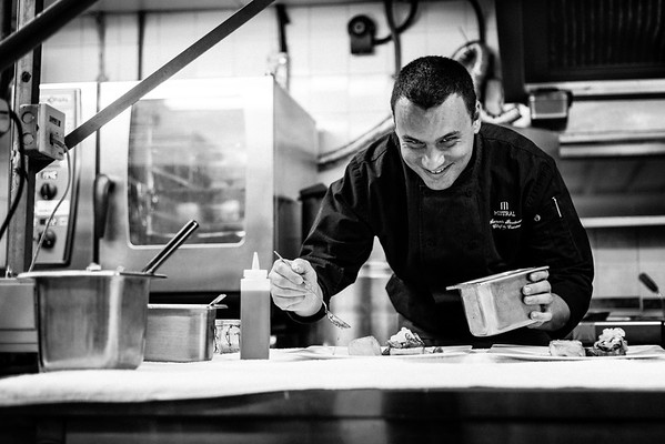 Chef Samuele Baudoino at work