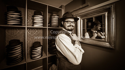 Portraits of George of Laird Hats Cambridge uk by ealesphotography