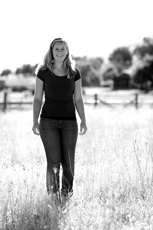 Another senior portrait for a different niece of mine.  We found a golden field and shot some pictures into the sunlight and others away from it.
