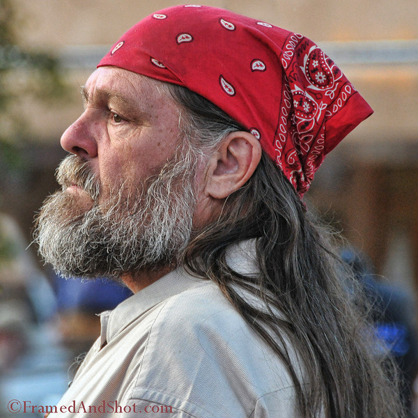 <strong><center>The Taos Hippie ~ </strong></center> There is actually a book called <em>Scrapbook of a Taos Hippie: Tribal Tales from the Heart of a Cultural Revolution </em>. We are not sure if he has any connection with it, but we found him in Taos and he did look a little bit like a hippie to us.....