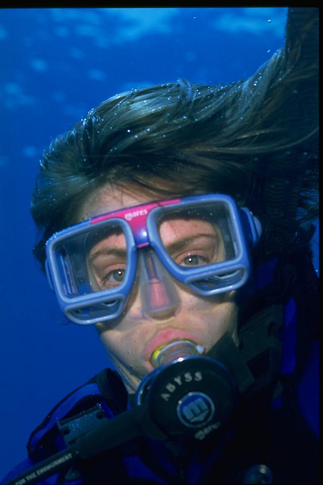 Susan under water-Hawaii