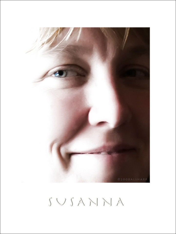 Susanna Sharp. Image captured Sept 22,2008 Two Sisters Cafe, Homer AK I really love her smile. edit