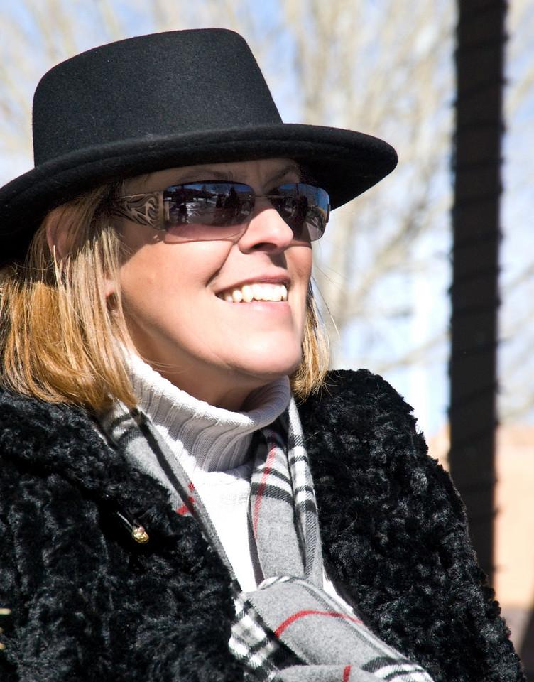 Linda Jones-Lloyd  in Santa Fe   Christmas 2007