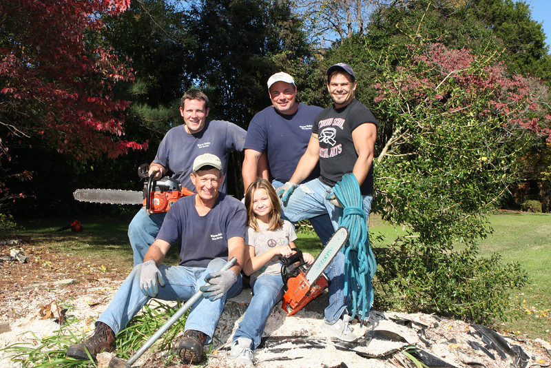 Wayne Briley and his tree removal crew.