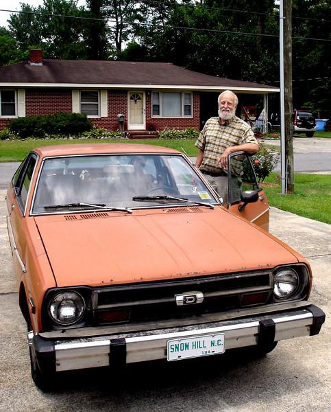 Frank Warren and his indistructilble car.