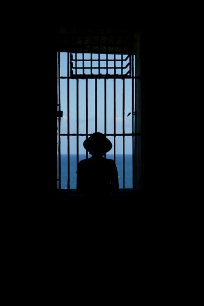 Silhouette portrait.