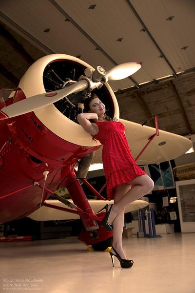 Aviation pinup shoot