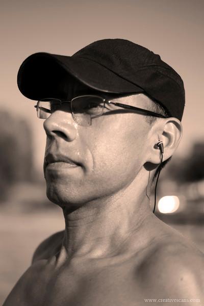Running man photo shoot.