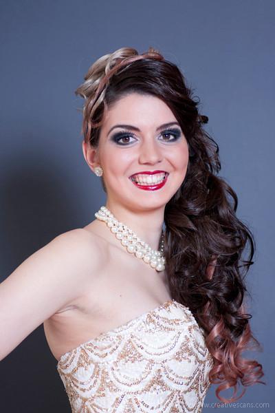 Hair and make-up model shoot.