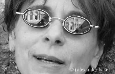 Wendy with yours truly and the Siena Duomo reflected in her sunglasses.