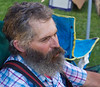 Farmer's market, Angels Camp, CA 2010. Working man at rest.
