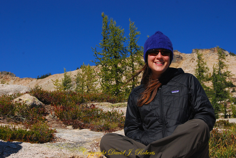 Suzy at Cutthroat Pass