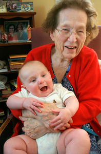 Max with Great Grandma