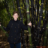 Cheryl Schwab in a black bamboo grove
