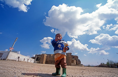 A kid in Haran village, Turkey