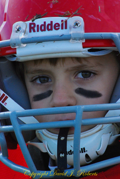 Young football player
