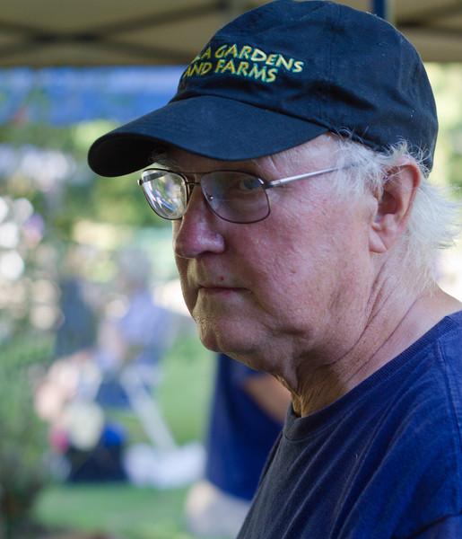 Lee Hess, Inca Gardens, at Angels Camp farm market, August, 2010.