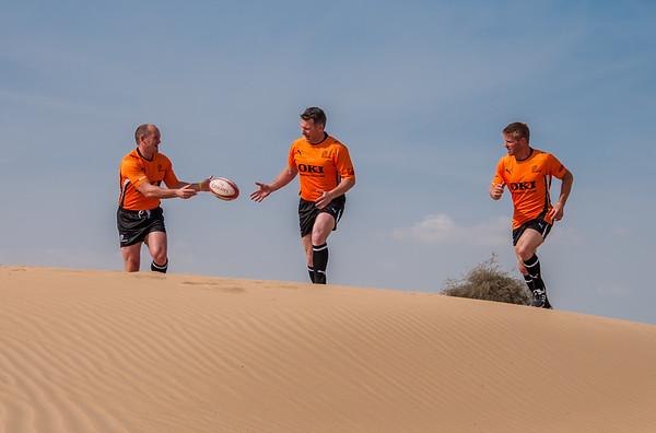 Bone Steelers desert photoshoot