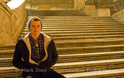 Tom on the Spanish Steps, Rome, Italy
